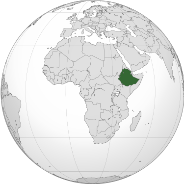 Ethiopia Africa orthographic projection svg