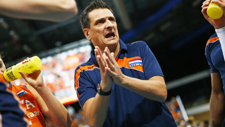 The Netherlands Womens Volleyball Team Coach Giovanni Guidetti